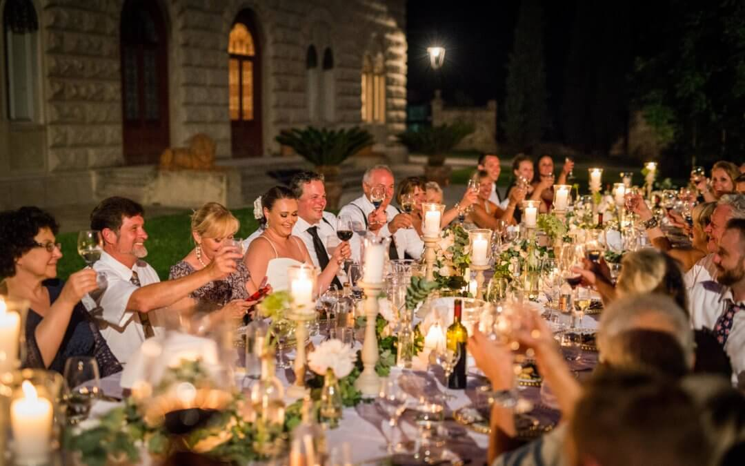 Romantic wedding in Venetian Castle